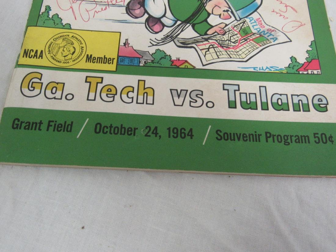 Vintage 1964 Georgia Tech vs Tulane Homecoming Souvenir - 2