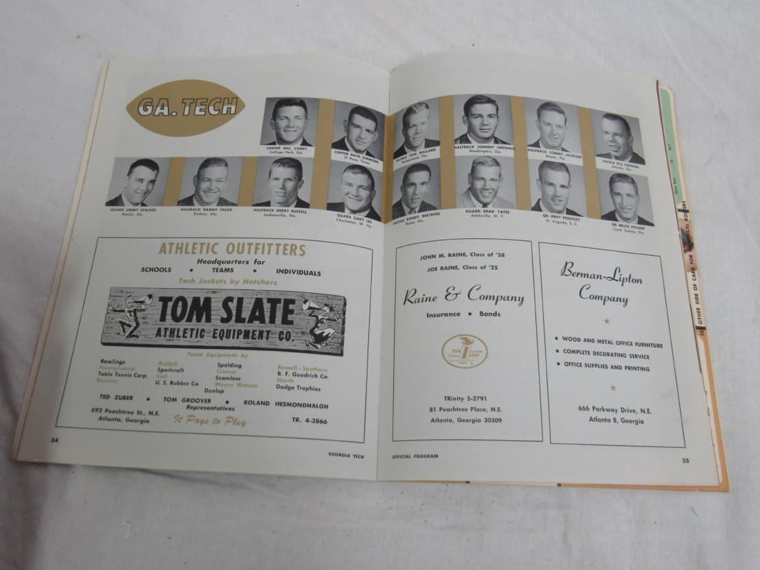 Vintage 1964 Georgia Tech vs Tulane Homecoming Souvenir - 5