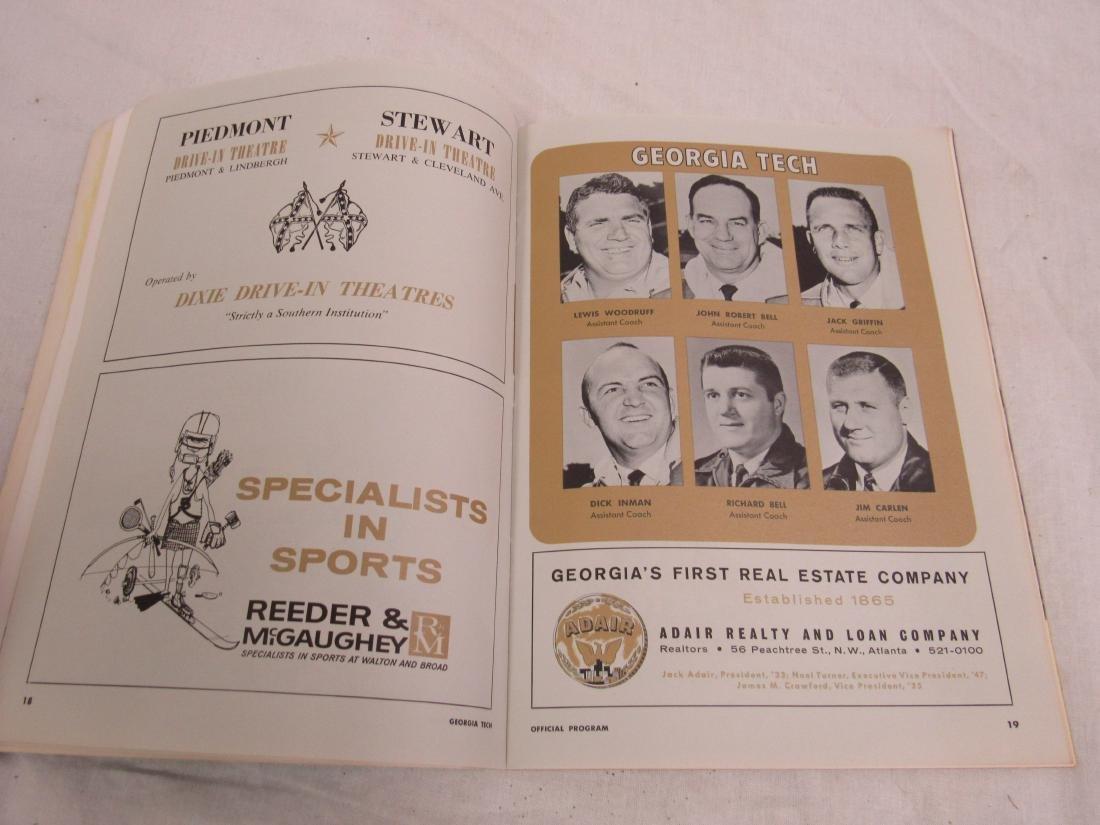 Vintage 1964 Georgia Tech vs Tulane Homecoming Souvenir - 6