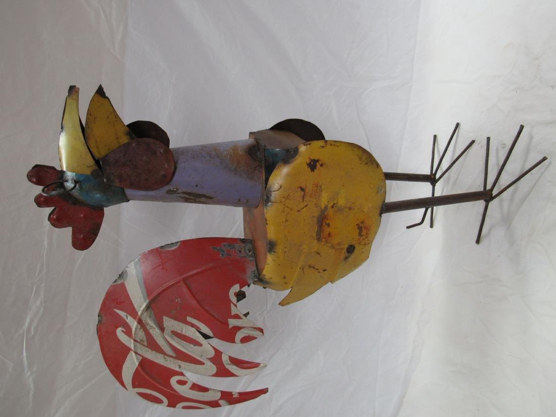 Metal Yard Art Rooster - 2