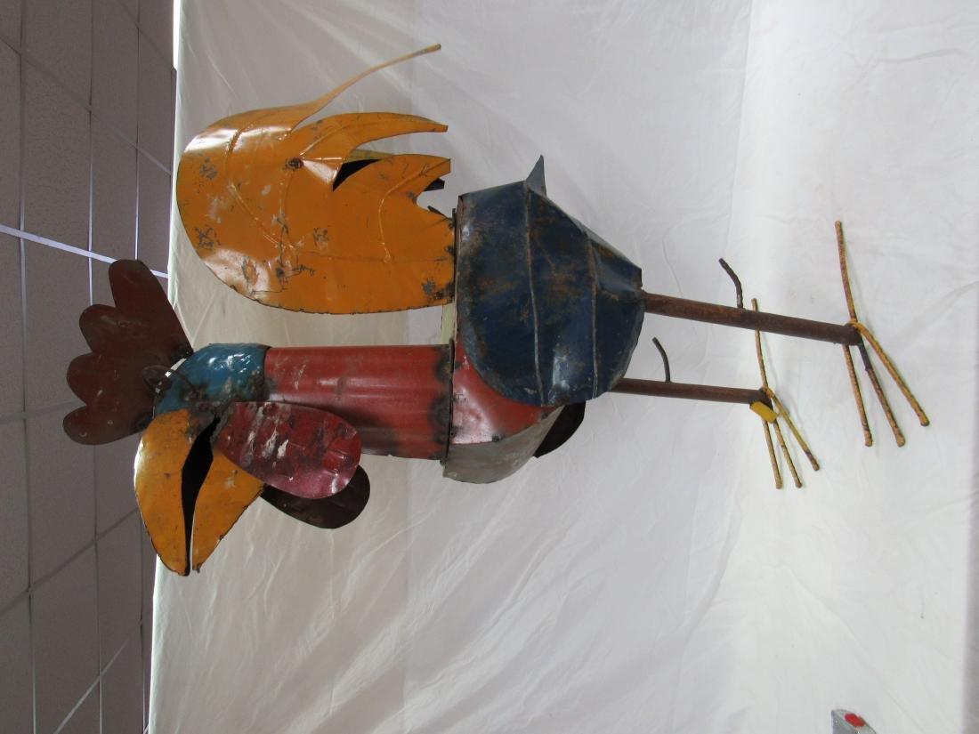 Large Metal Yard Art Rooster