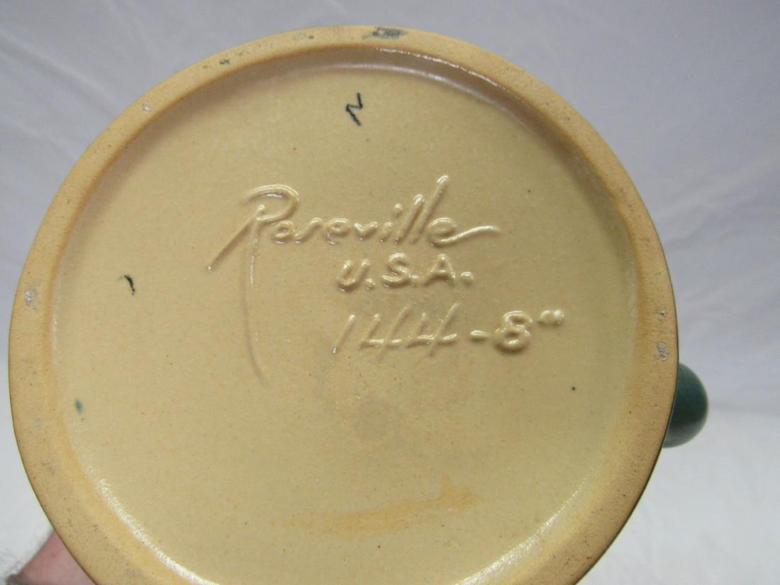 White Rose Roseville Cornucopia Vase - 3