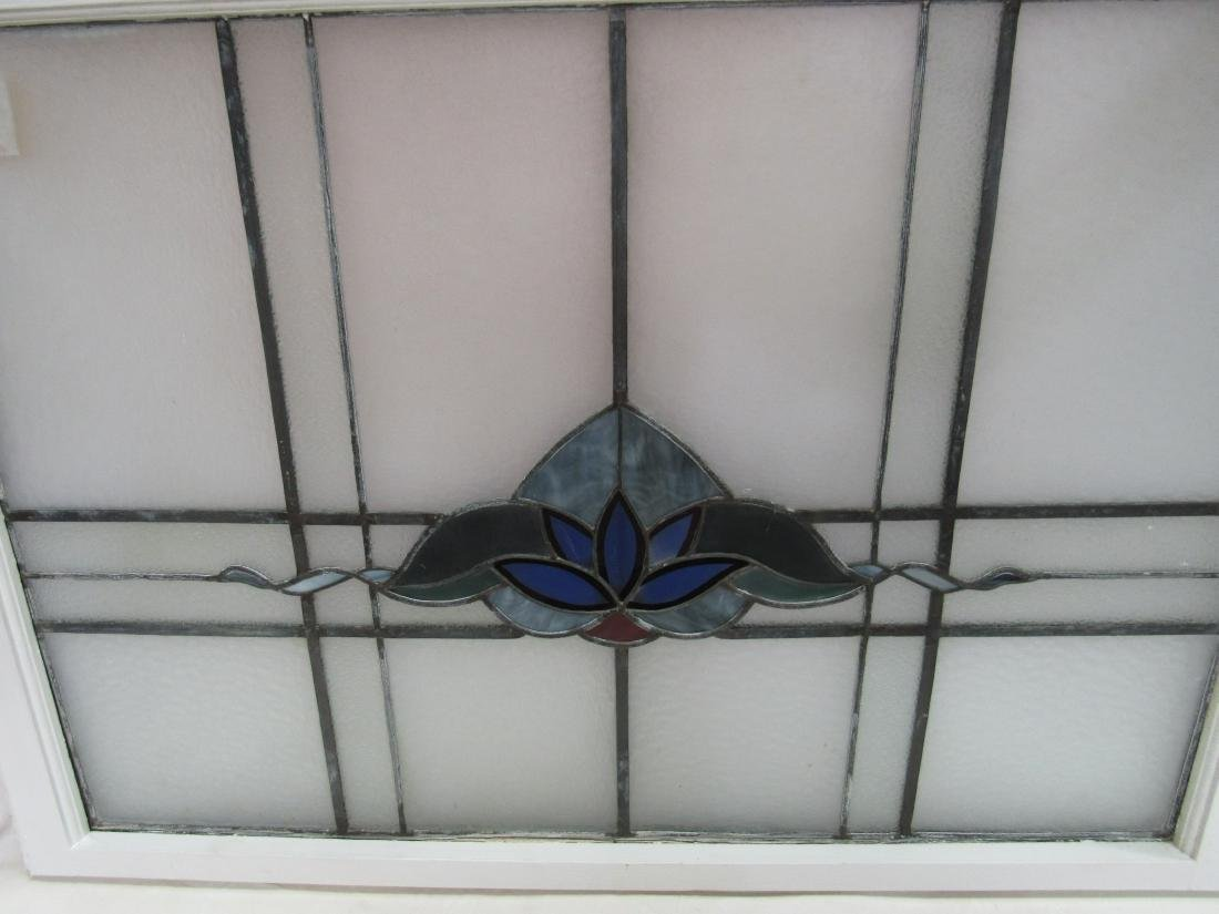 Antique Stained Glass Window Panel - 2