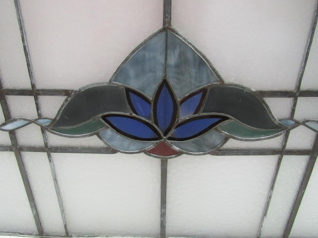 Antique Stained Glass Window Panel - 3