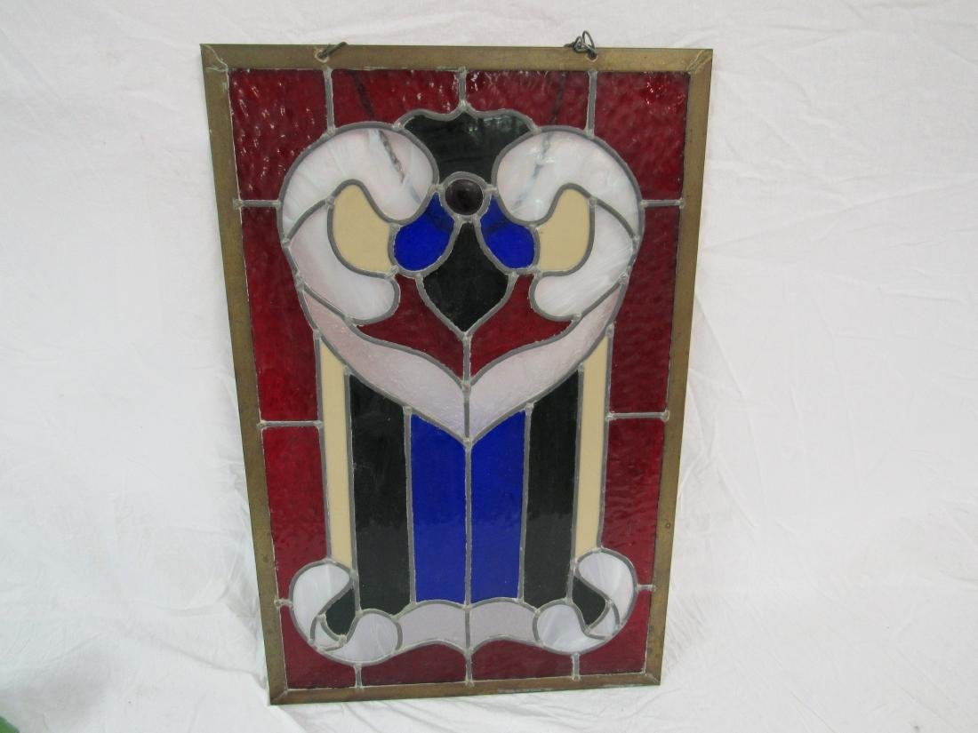Vintage Stained Glass Panel