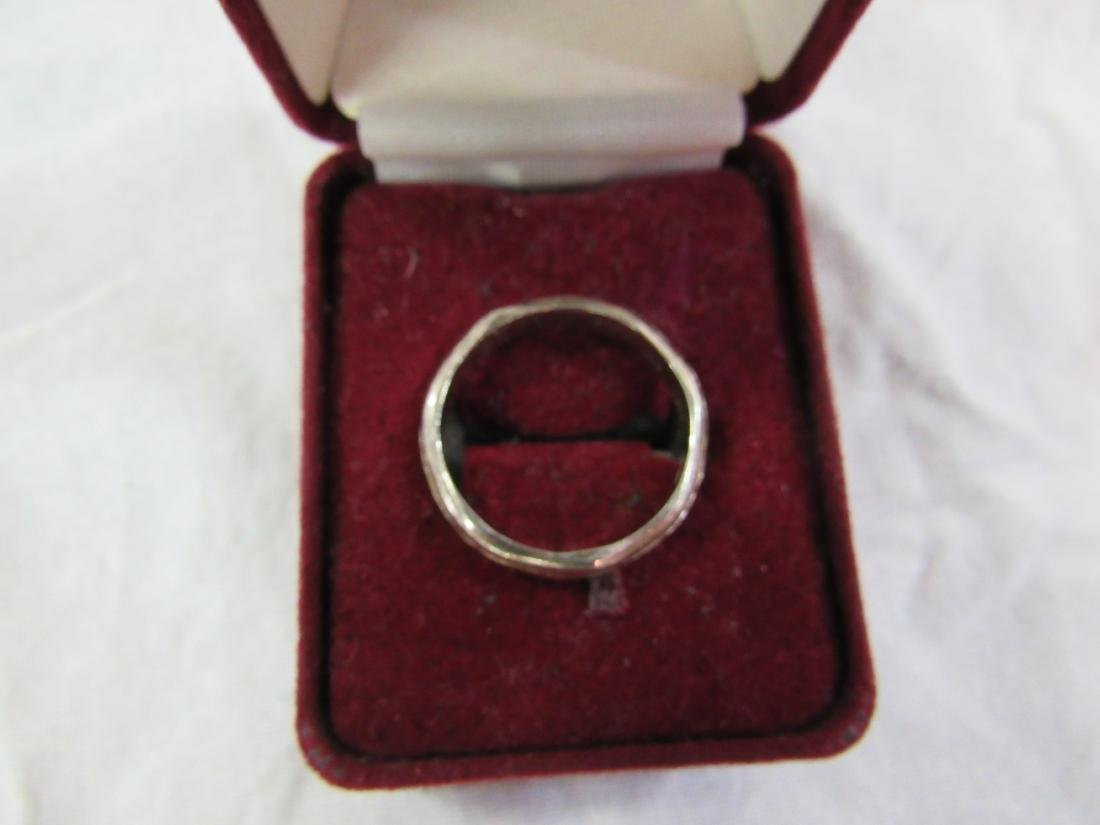 Vintage Mens Sterling and 14k Gold Ring - 4