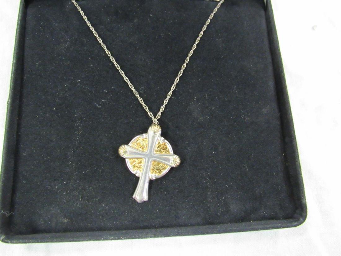 Gorham Sterling Silver Crucifix on Sterling SilverChain