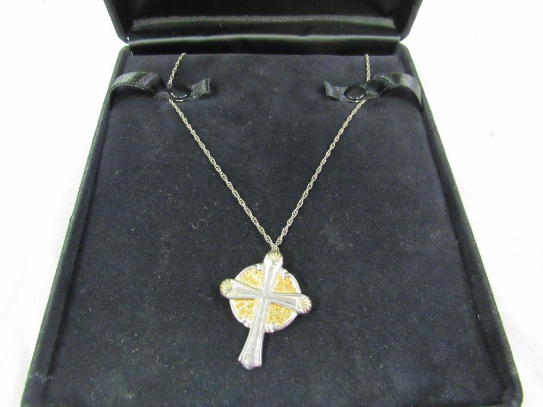Gorham Sterling Silver Crucifix on Sterling SilverChain - 2