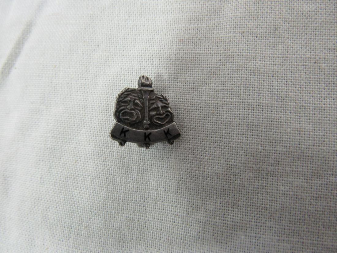 Vintage Sterling Silver KKK Lapel Pin