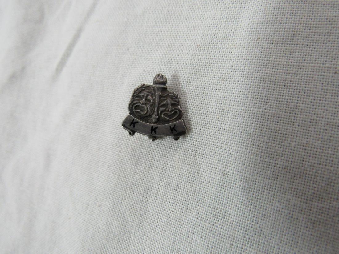 Vintage Sterling Silver KKK Lapel Pin - 2