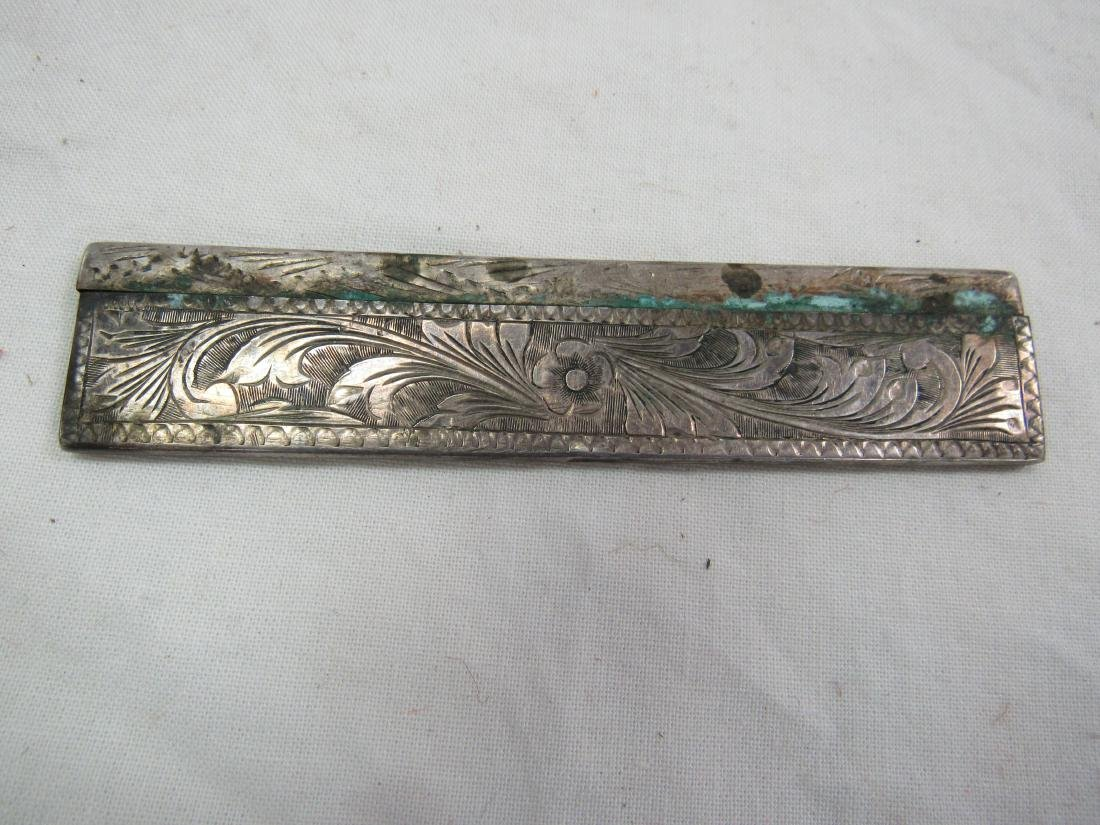Antique Sterling and Tortis Comb - 2