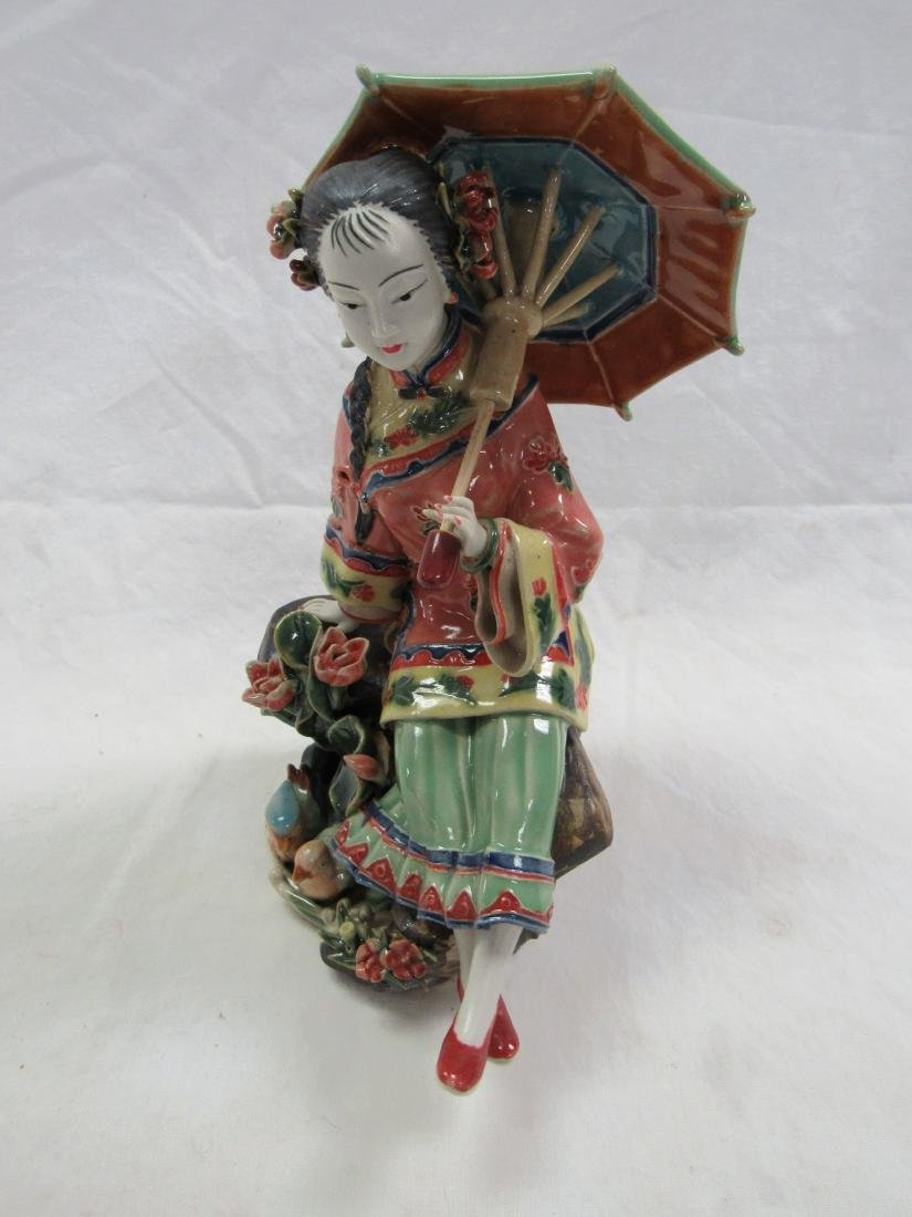 Intricate Geisha Porcelain Figural