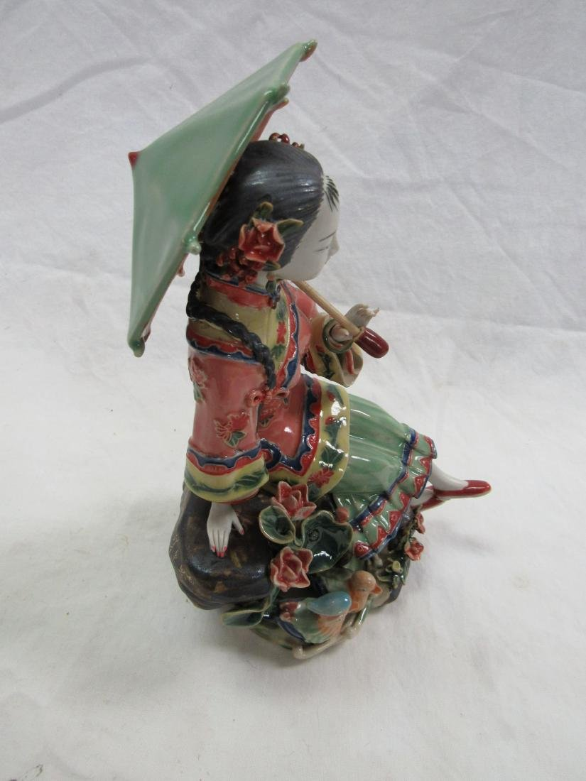 Intricate Geisha Porcelain Figural - 3