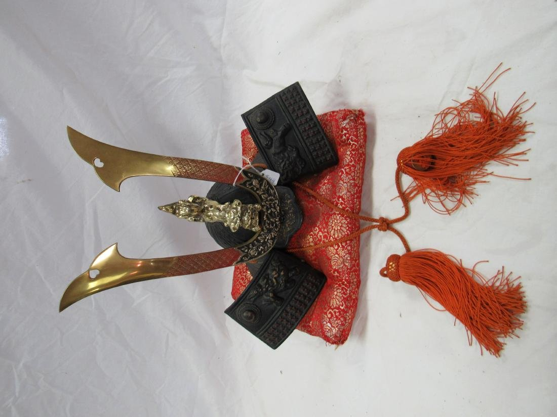 Decorative Cast Iron Samurai Helmet