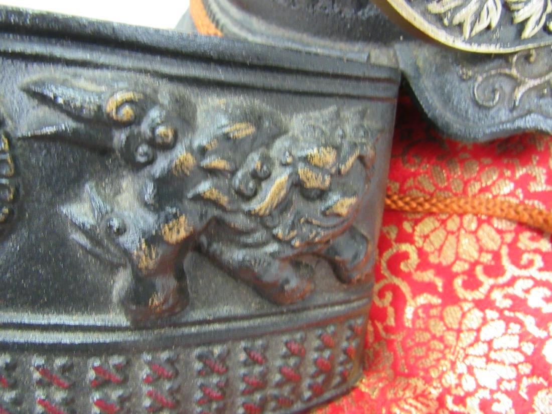 Decorative Cast Iron Samurai Helmet - 5