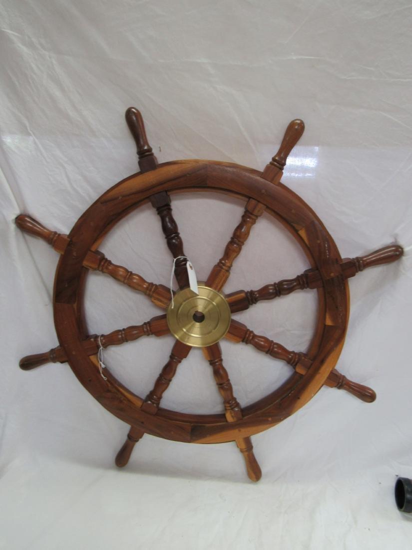 Large Vintage Ships Wheel