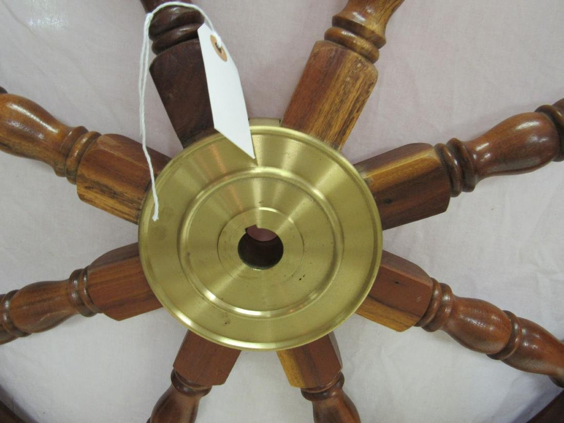 Large Vintage Ships Wheel - 3