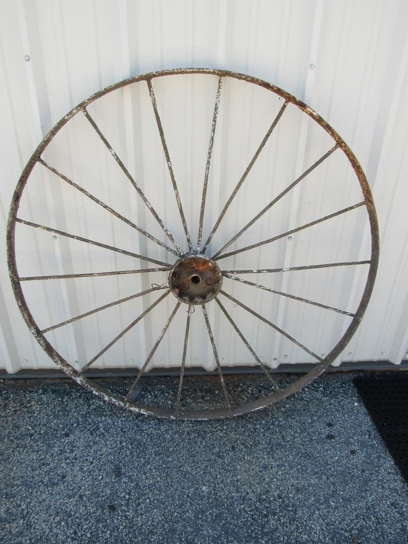 Antique Steel Wagon Wheel