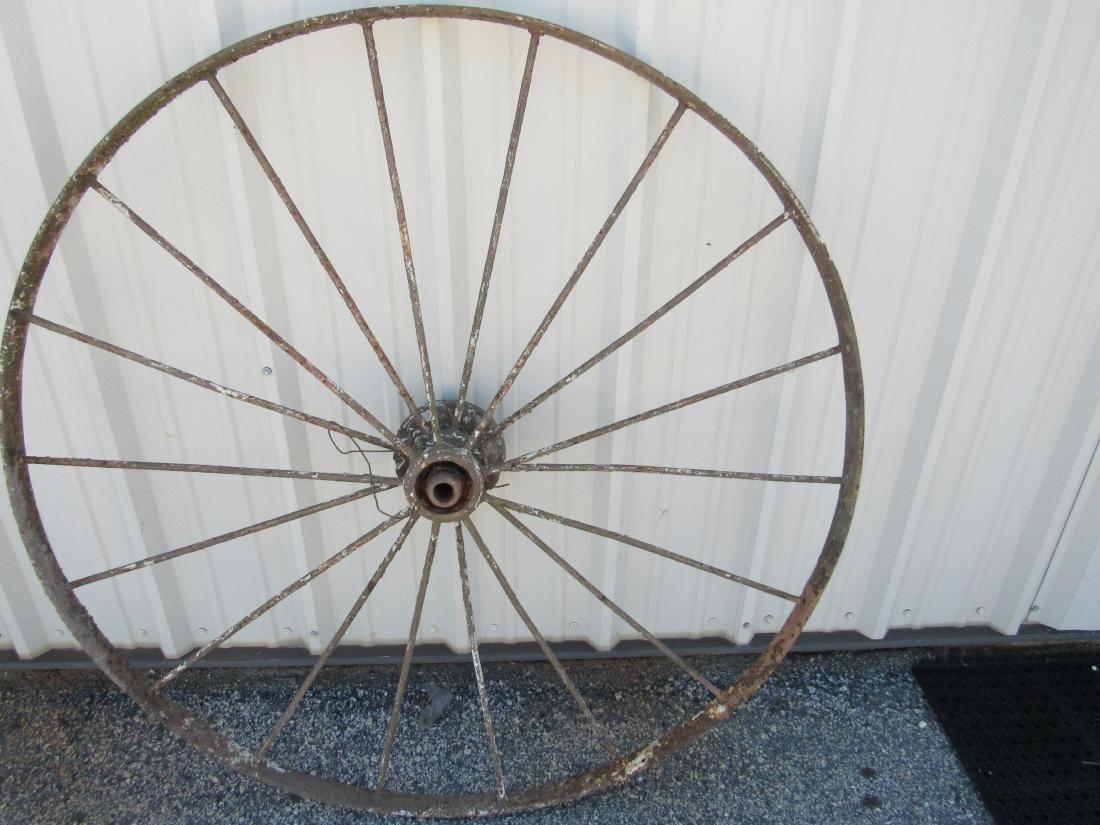 Antique Steel Wagon Wheel - 3