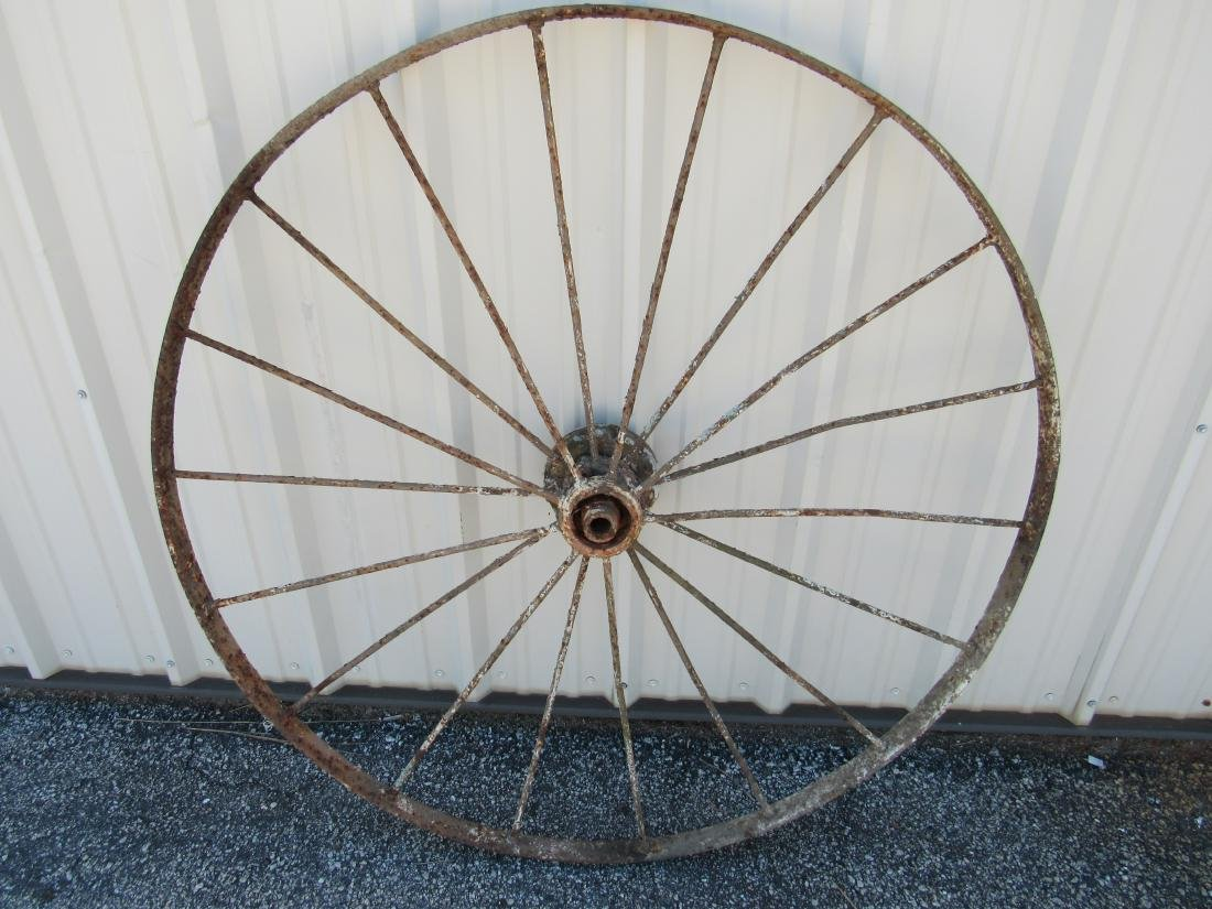 Antique Steel Wagon Wheel - 3