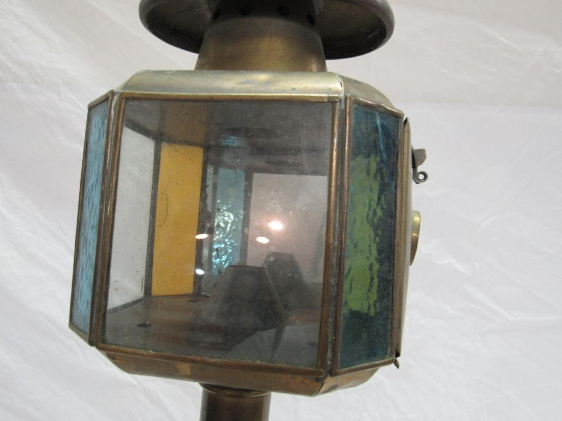 Lot of 2 Brass Stage Coach Lights - 2