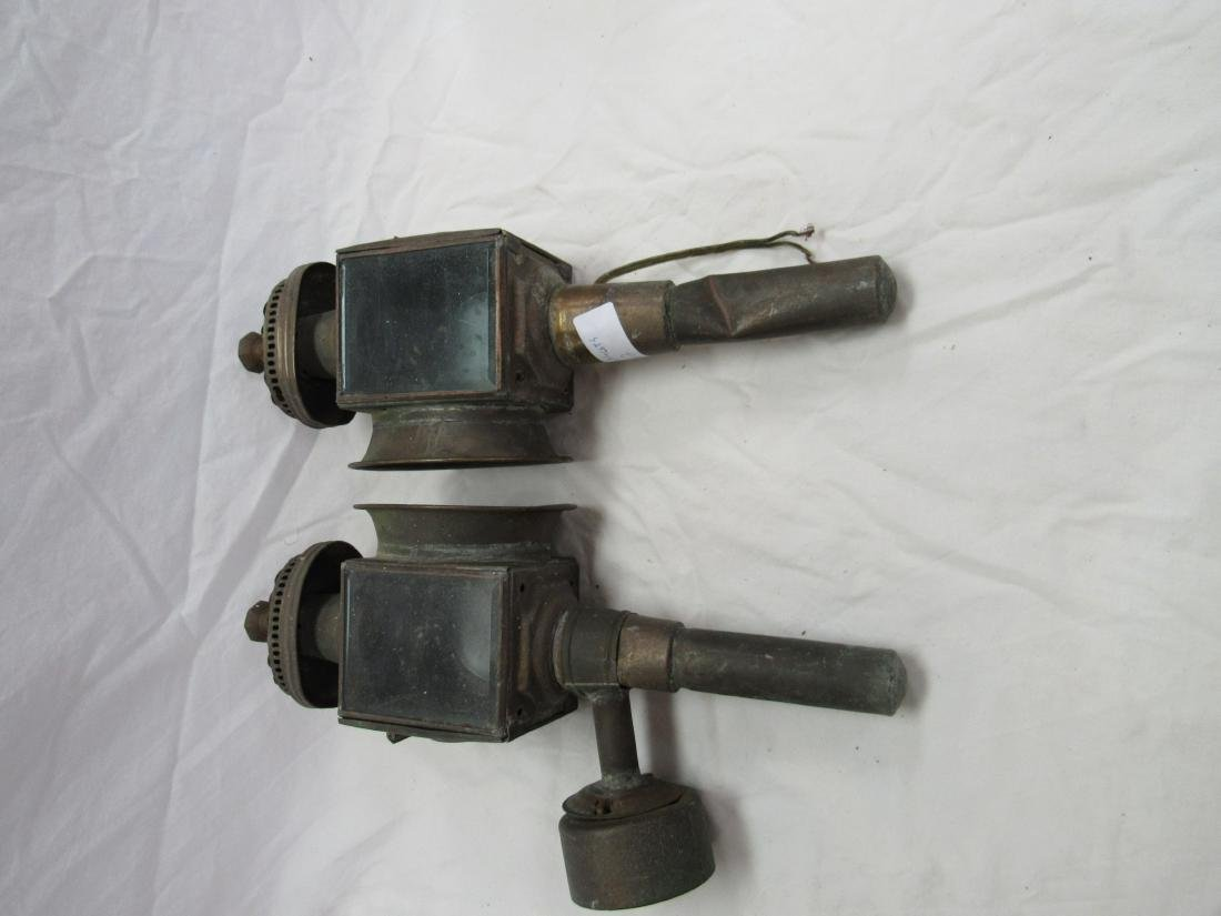 Lot of 2 Brass Stage Coach Lights