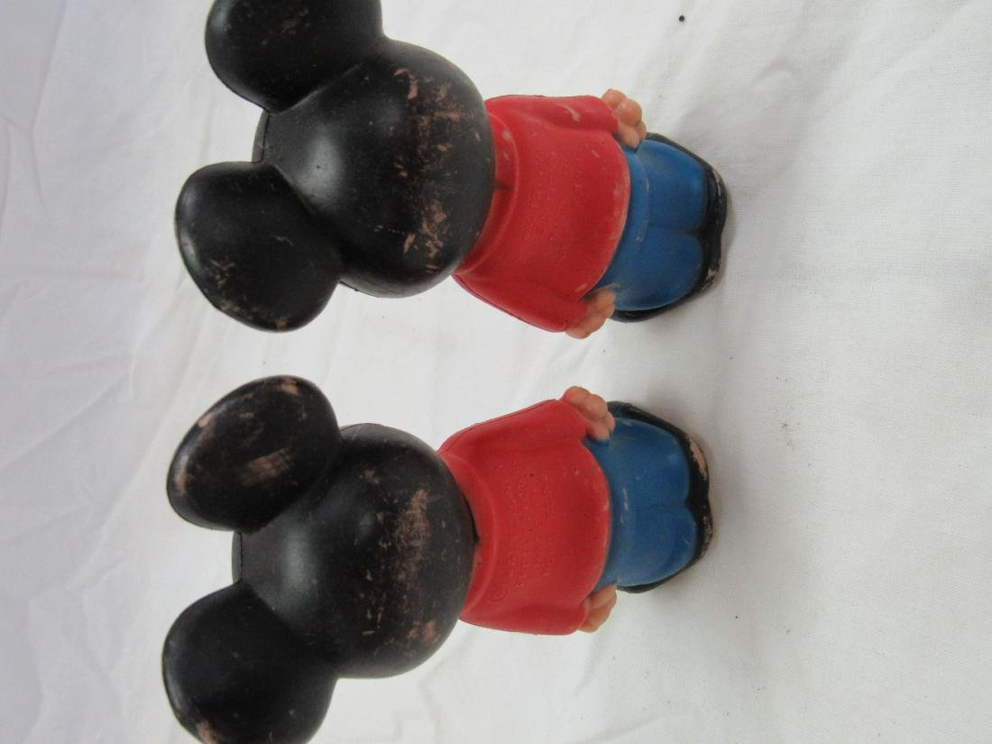 Lot of 2 Vintage Plastic Mickey Mouse Figures - 2