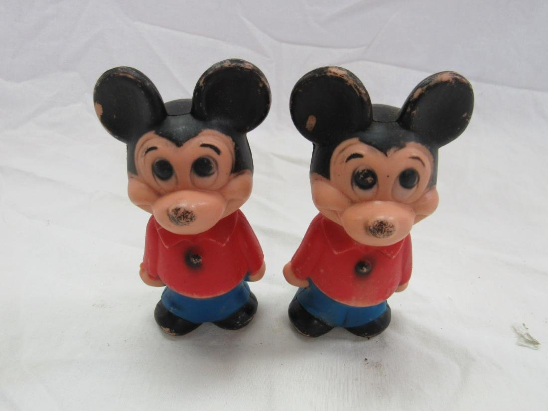 Lot of 2 Vintage Plastic Mickey Mouse Figures