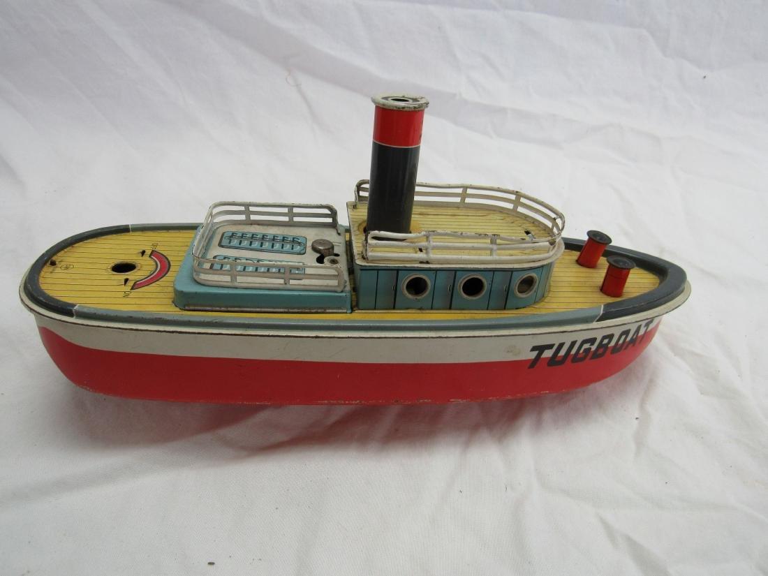 Vintage San Tin Lithograph Tug Boat