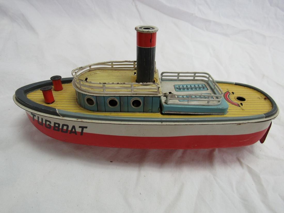 Vintage San Tin Lithograph Tug Boat - 2