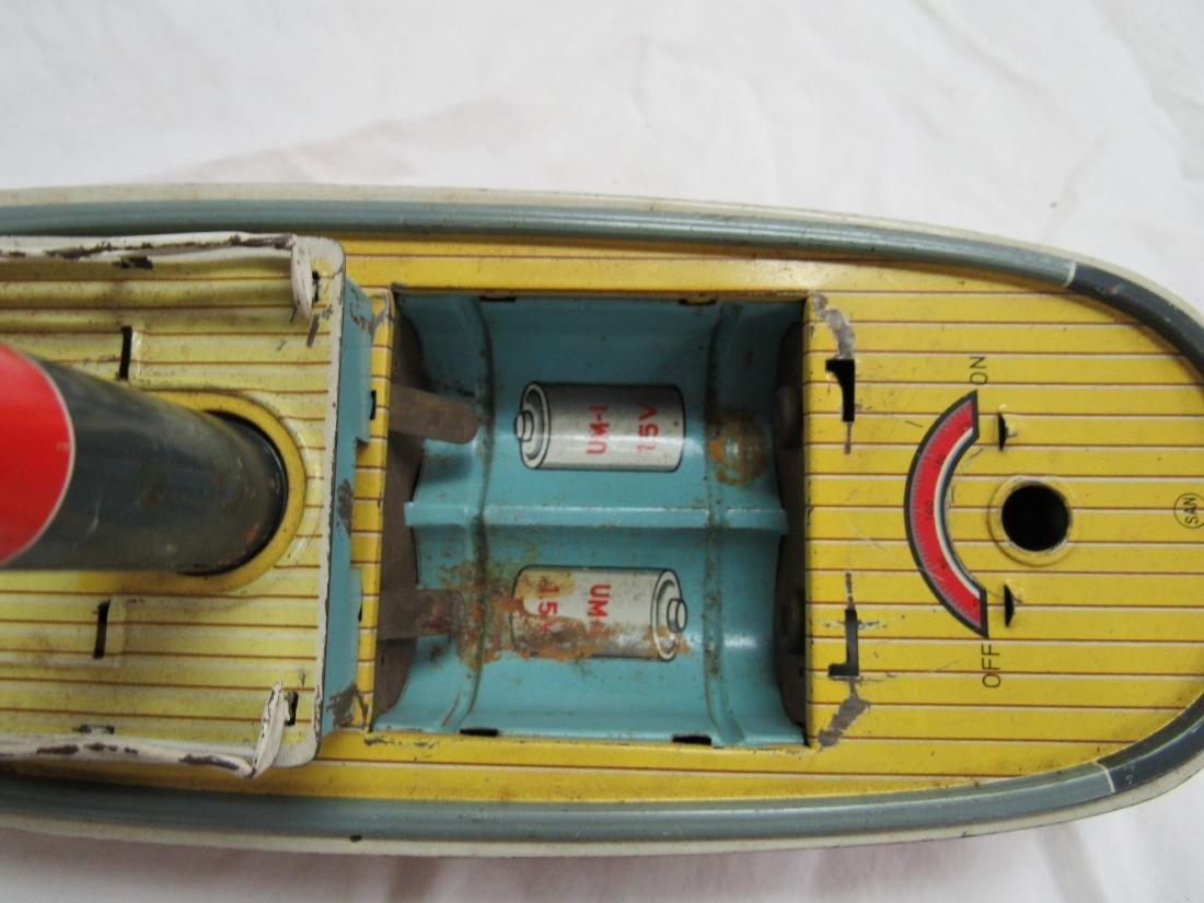 Vintage San Tin Lithograph Tug Boat - 3