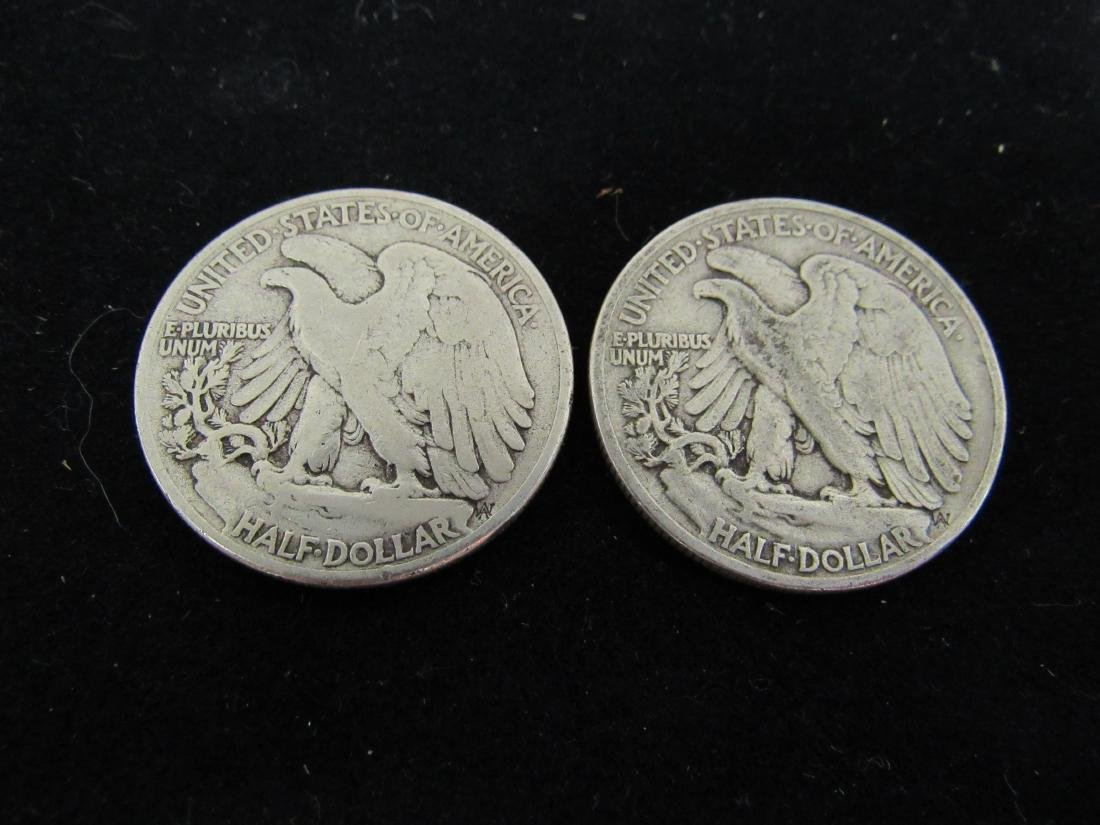 Lot of (2) 1943 Walking Liberty - 2