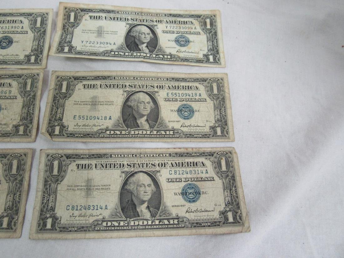 Lot of 6 1957 Silver Certificates - 2