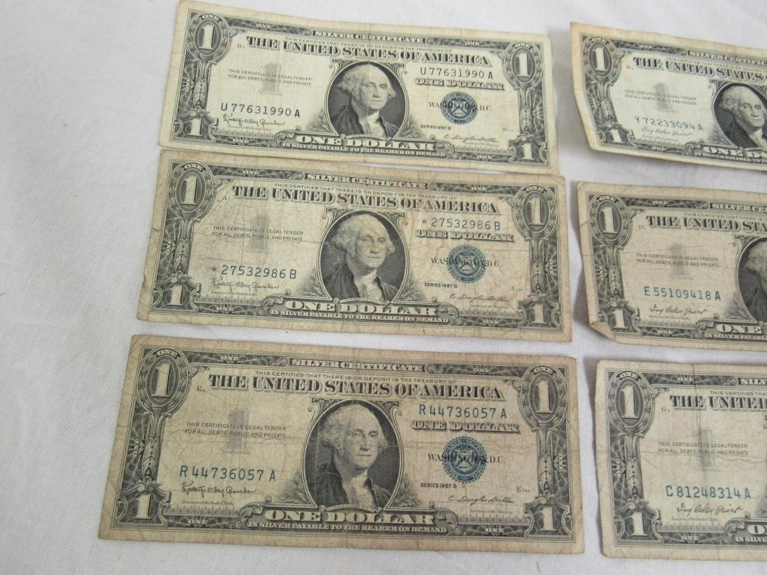 Lot of 6 1957 Silver Certificates - 3