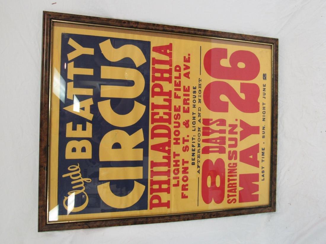 Vintage Clyde Beatty Circus Poster, Philadelphia