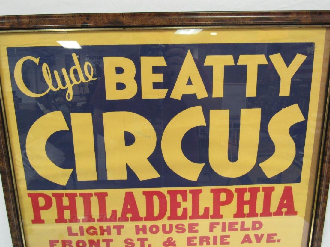 Vintage Clyde Beatty Circus Poster, Philadelphia - 2