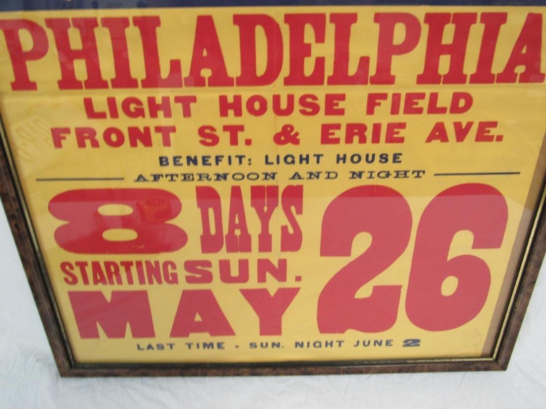 Vintage Clyde Beatty Circus Poster, Philadelphia - 3