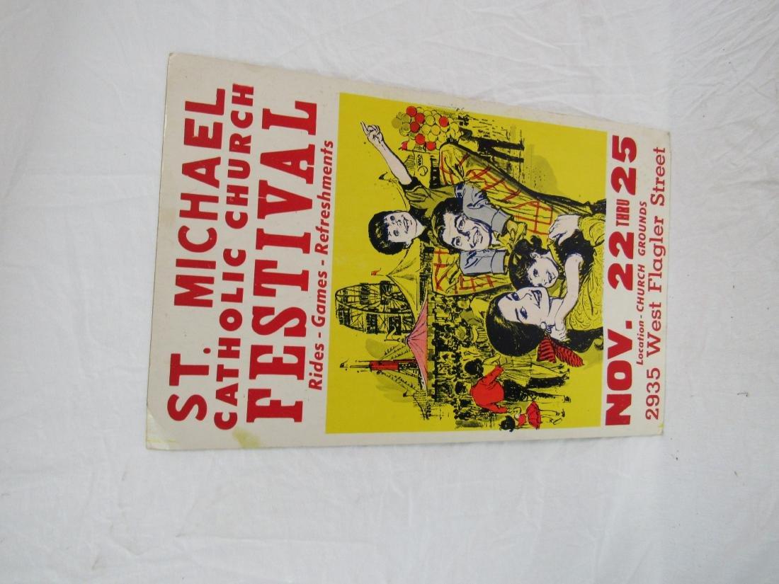St. Michael Catholic Church Festival Poster