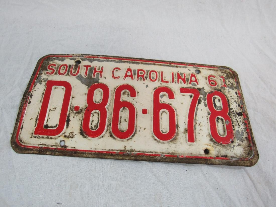 Lot of 2 1960's South Carolina and Indiana Tags - 3