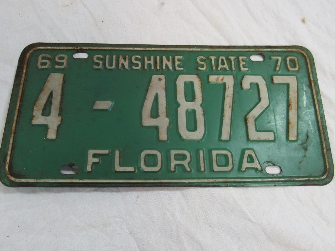 Lot of 2 1969 and 1970 Florida Tags - 2
