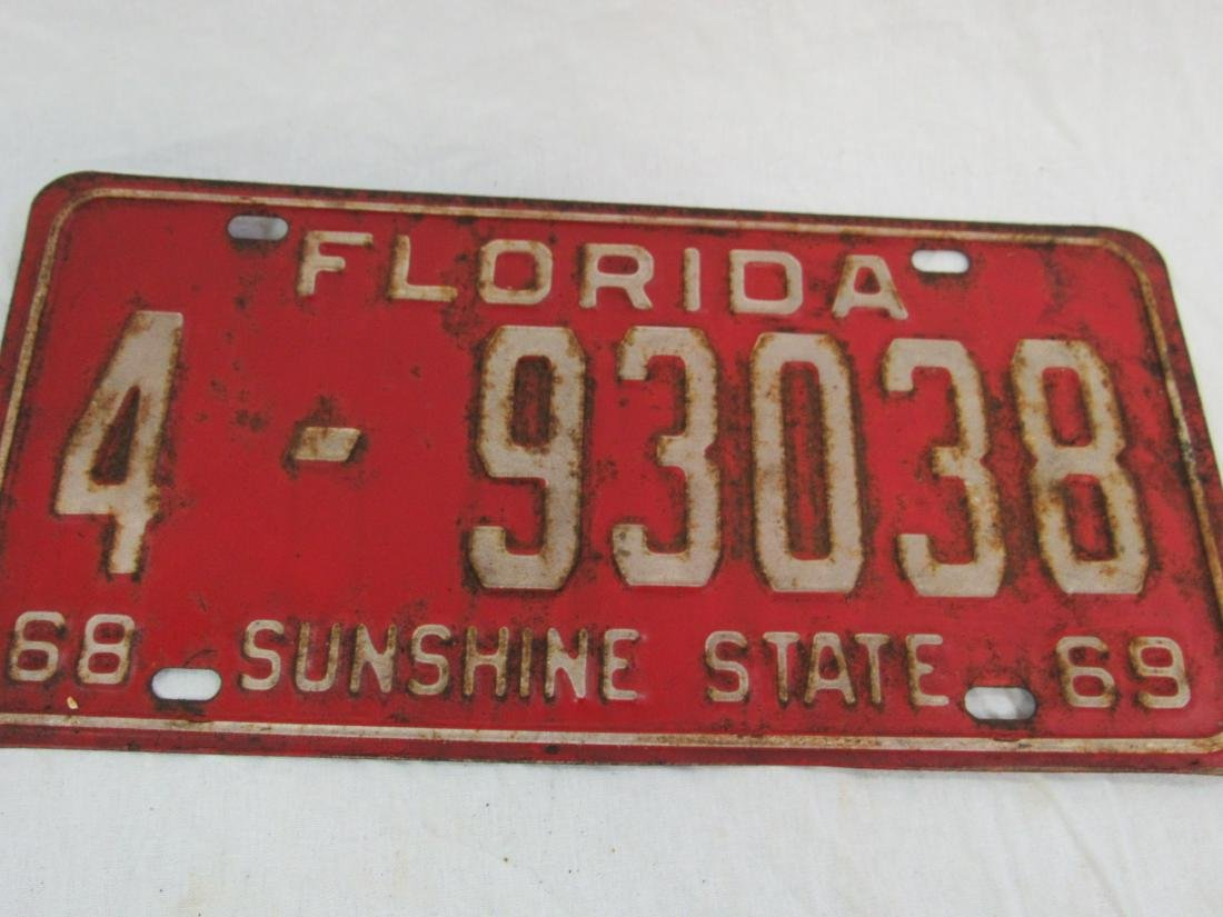 Lot of 2 1969 and 1970 Florida Tags - 3