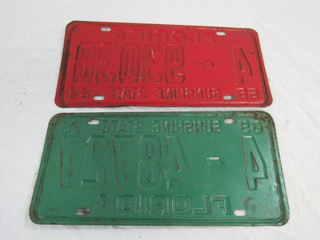 Lot of 2 1969 and 1970 Florida Tags - 4