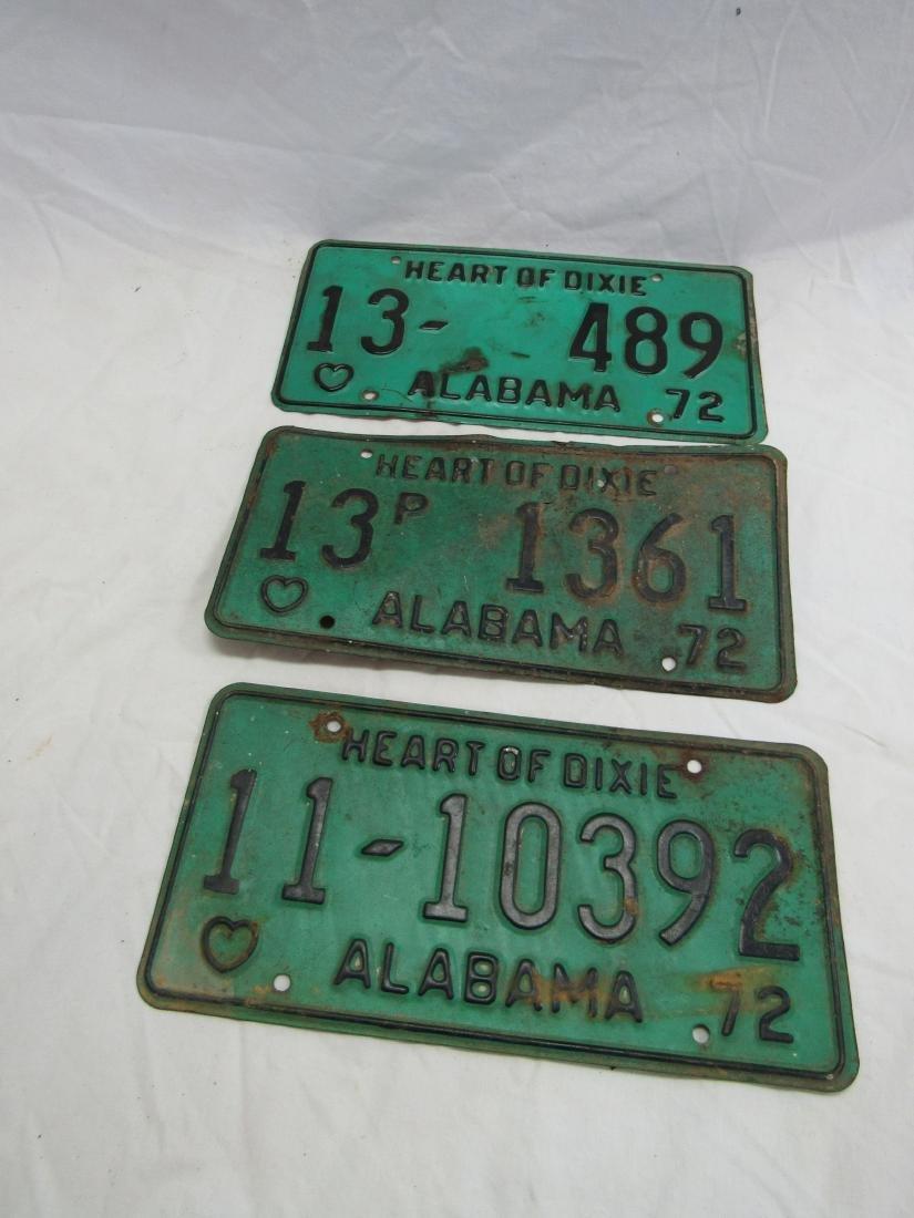 Lot of 3 1972 Alabama Tags