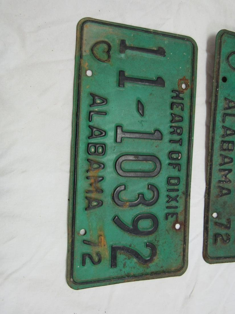 Lot of 3 1972 Alabama Tags - 2