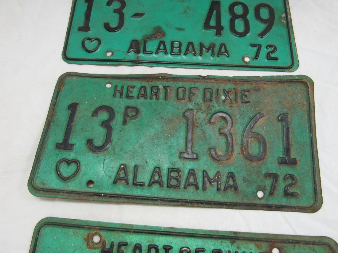 Lot of 3 1972 Alabama Tags - 3