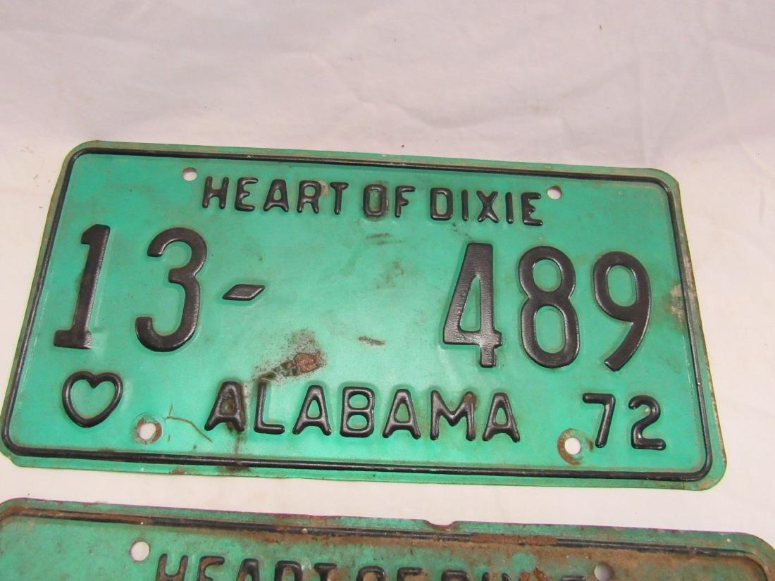 Lot of 3 1972 Alabama Tags - 4