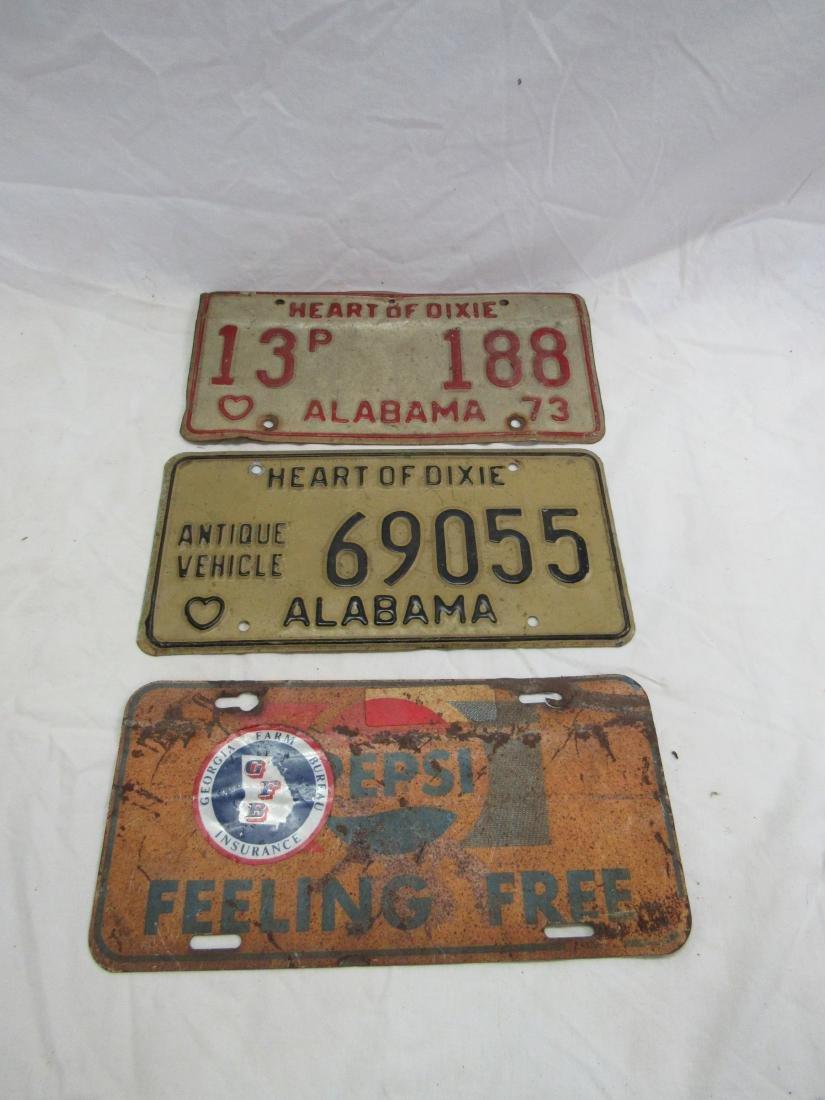 Lot of 3 Vintage Car tags