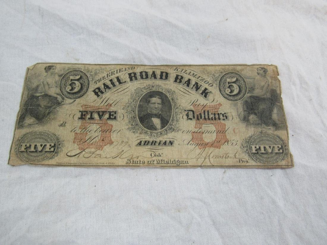 1853 The Erie and Kalamizoo Railroad Note