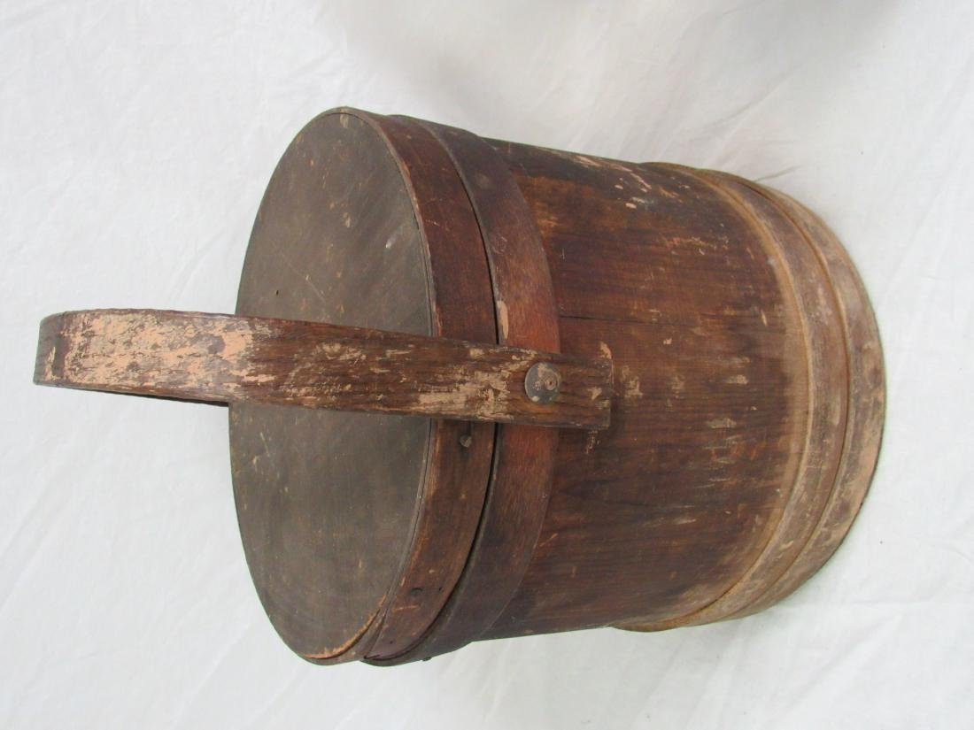 Early Antique Firkin Bucket - 2