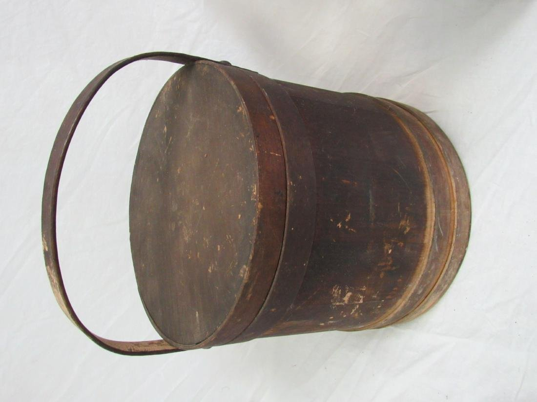 Early Antique Firkin Bucket - 3